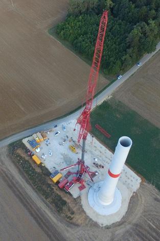 Letzte Bauphase der Windräder beginnt